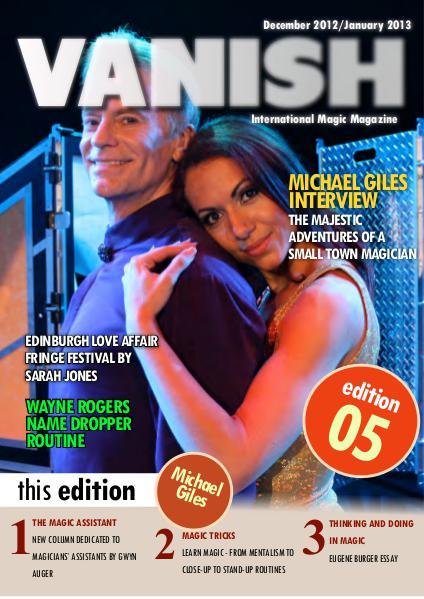 VANISH MAGIC BACK ISSUES Michael Giles