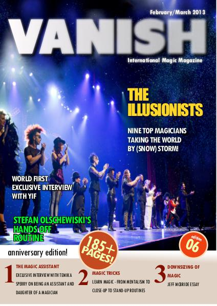 VANISH MAGIC BACK ISSUES The ILLUSIONISTS