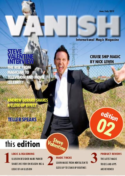 VANISH MAGIC BACK ISSUES Steve Valentine