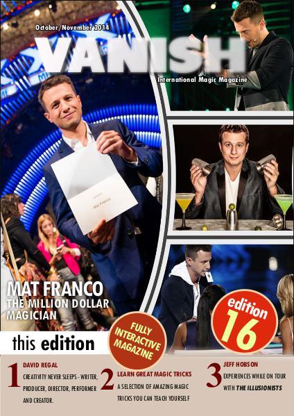 VANISH MAGIC BACK ISSUES Matt Franco