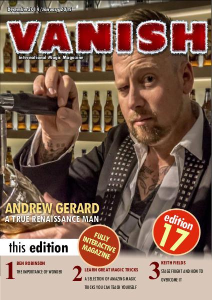 VANISH MAGIC BACK ISSUES ANDREW GERARD