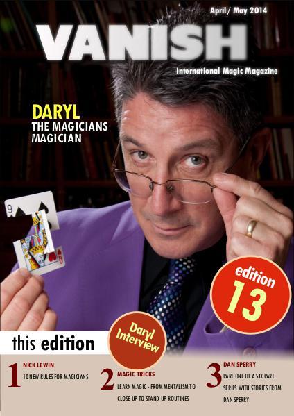 VANISH MAGIC BACK ISSUES DARYL