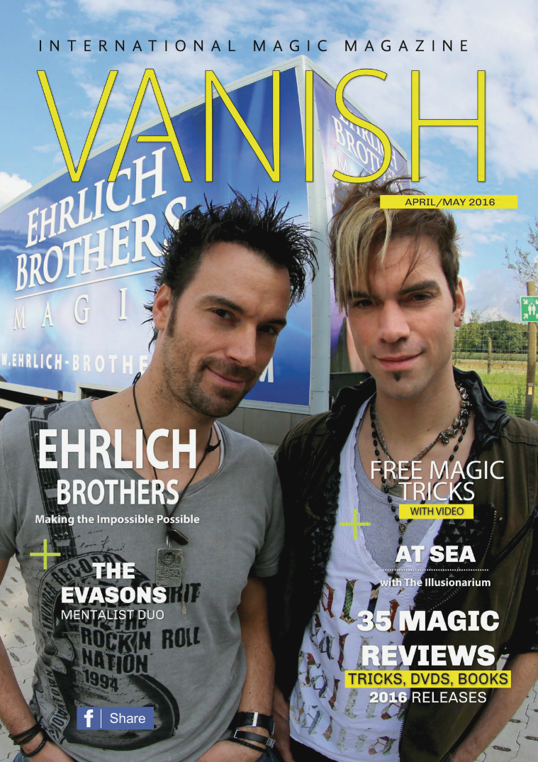 VANISH MAGIC BACK ISSUES The Ehrlich Brothers