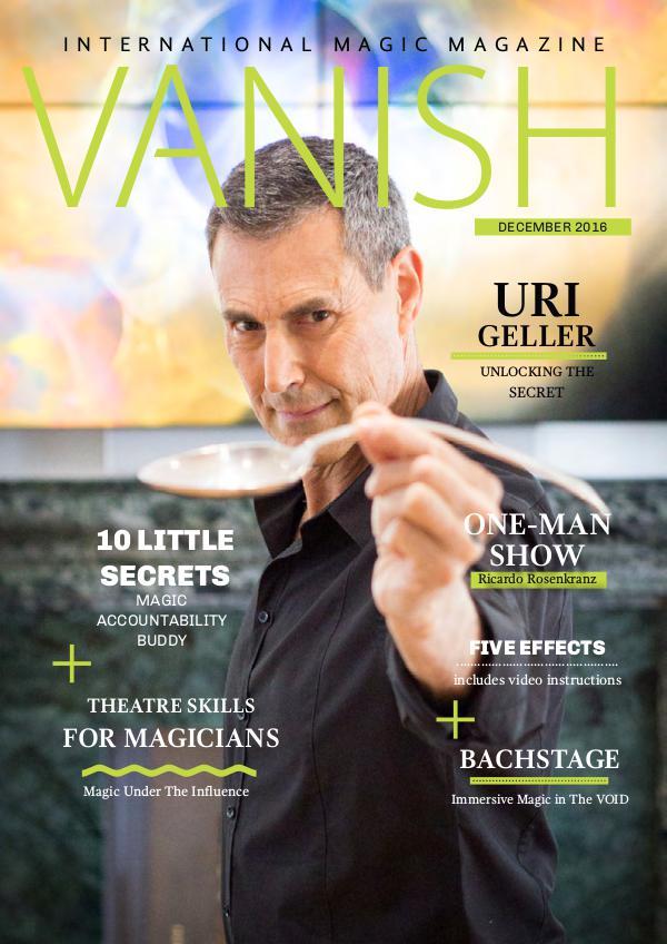 VANISH MAGIC BACK ISSUES Uri Geller Vanish 29