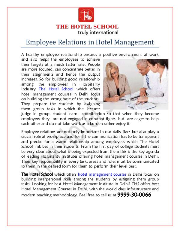 Hotel Management Courses Hotel Management Courses