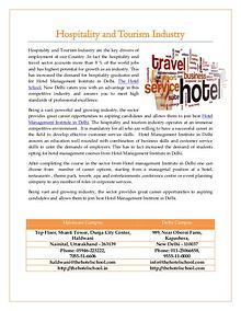 Hotel Management Institutes Delhi