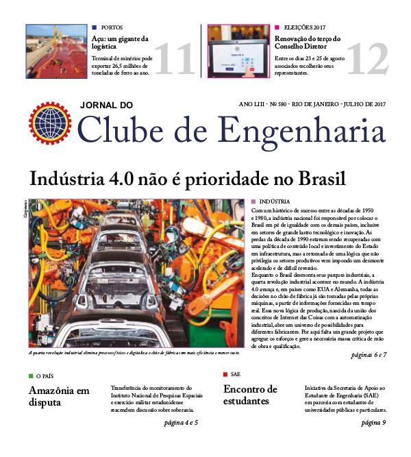 Jornal do Clube de Engenharia 580 (Julho de 2017)