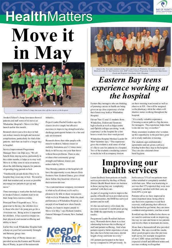 Health Matters EBOP May 2018