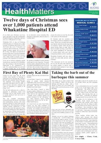 Health Matters EBOP January 2016