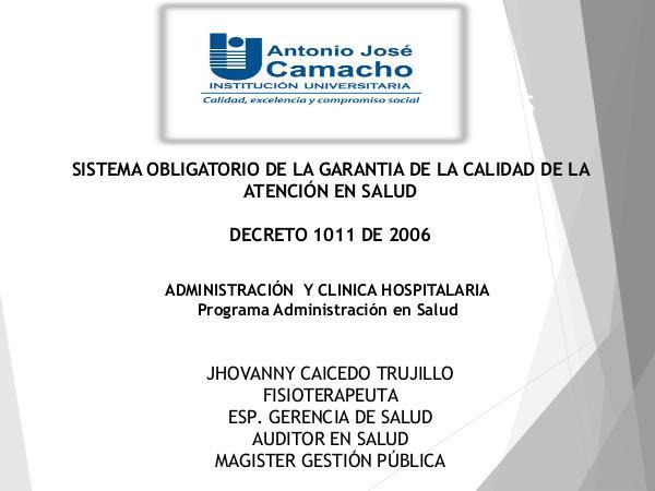 Decreto 1011 de 2016 - 1