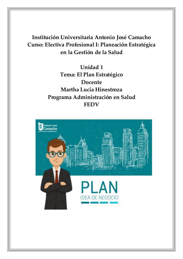 El Plan Estratégico 01