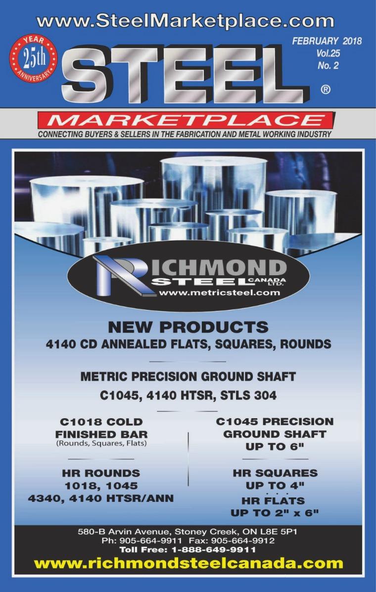 Steel Marketplace STEEL MARKETPLACE FEBRUARY 2018