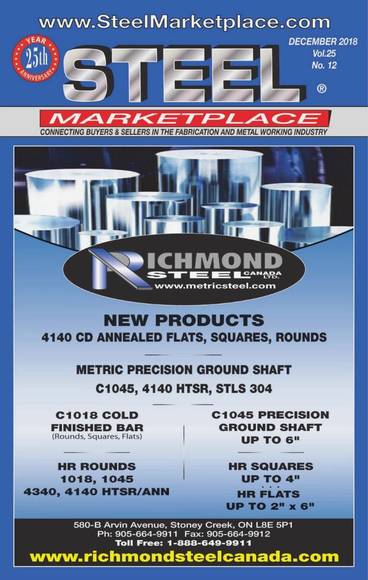 Steel Marketplace STEEL MARKETPLACE DECEMBER 2018