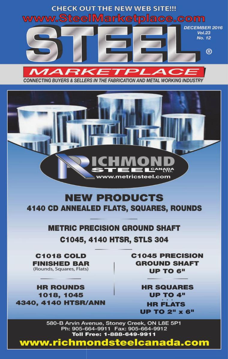 Steel Marketplace Steel Marketplace DECEMBER 2016
