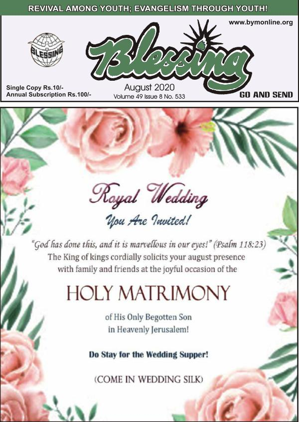 Blessing English Emagazine August 2020
