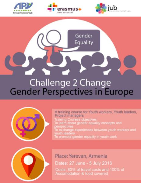 Armenian Progressive Youth NGO Challenge 2 Change: Gender Perspectives in Europe