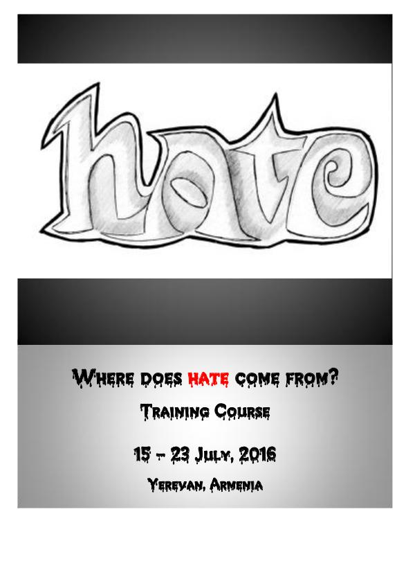 "Info-Pack ""Where Does Hate Come From?"""