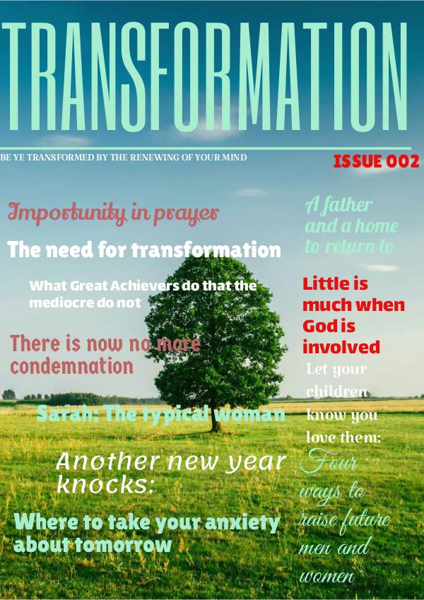 Transformation magazine Jan Special