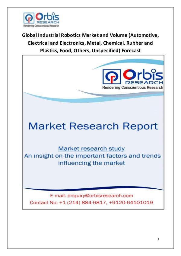 Industry Analysis Forecast 2020: Industrial Robotics Market Analys