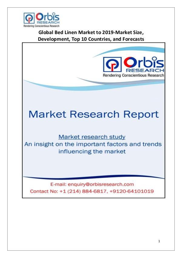 Industry Analysis New Study on Global Bed Linen Market 2015