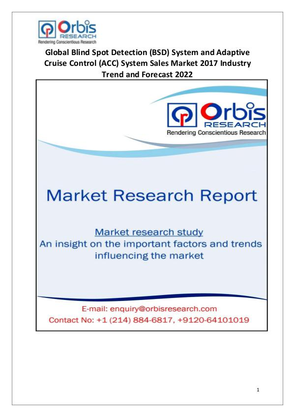Blind Spot Detection System and Adaptive Cruise Control System Sales Market Research Report World