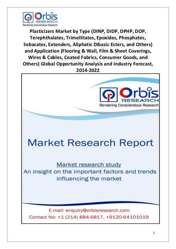 Industry Analysis 2014 Global Plasticizers Market Size