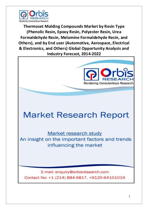 Industry Analysis Global Thermoset Molding Compounds Market Dynamics