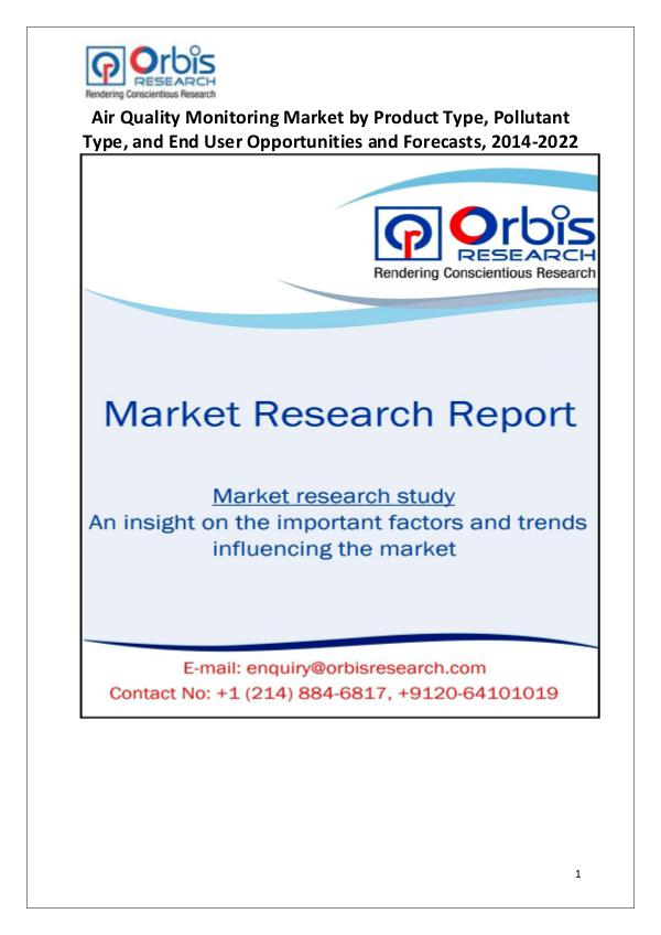 Industry Analysis 2022 Global Air Quality Monitoring Market  Trends
