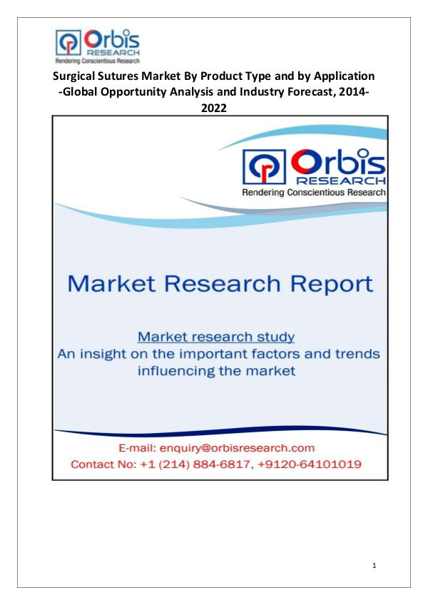 Industry Analysis Global Surgical Sutures Market Share and Analysis