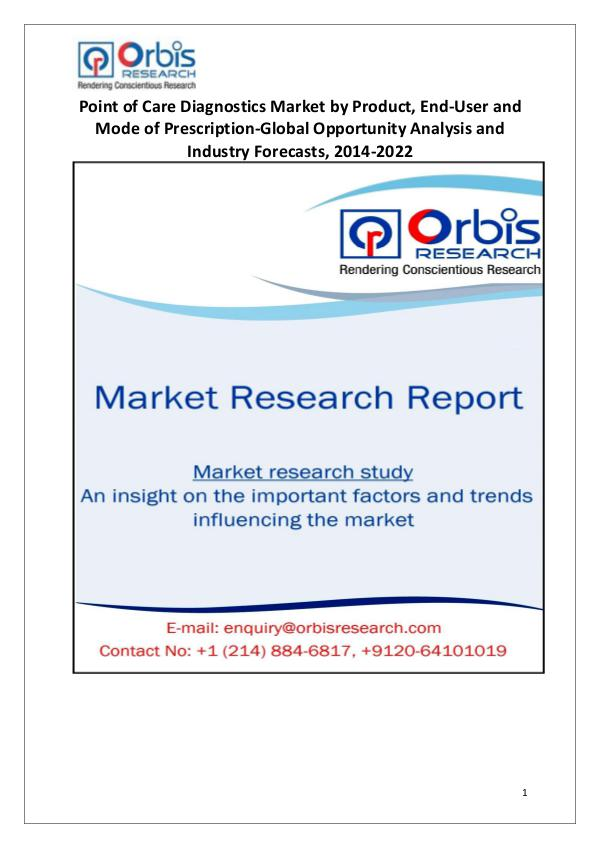 Industry Analysis Global Point of Care Diagnostics Market Growth
