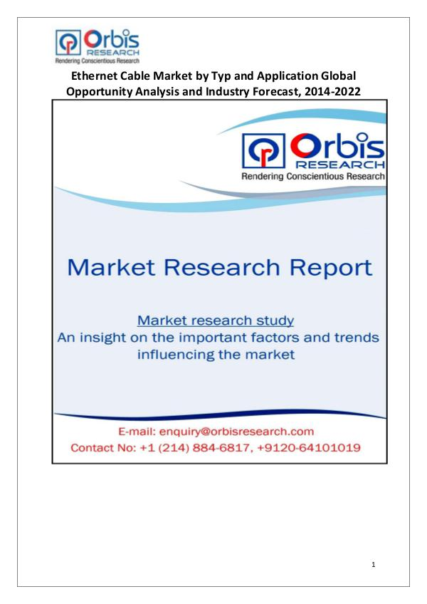 Industry Analysis Ethernet Cable Market by Application