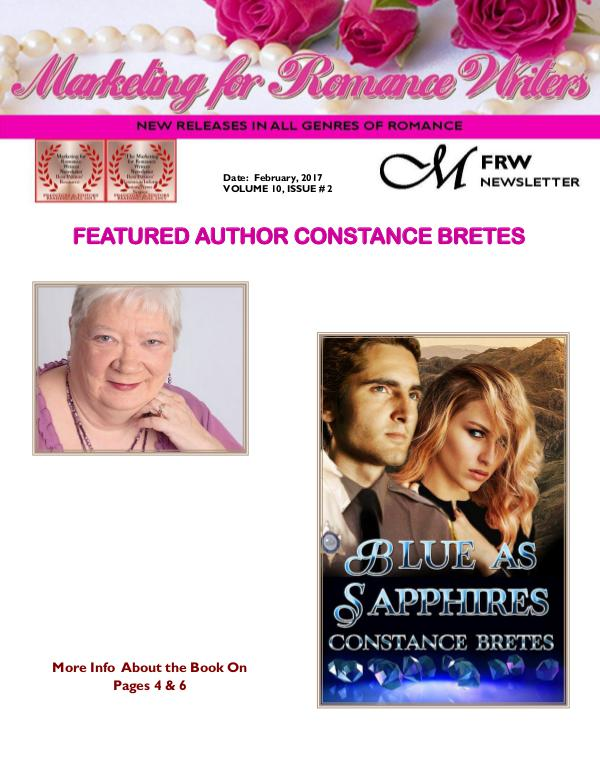 Marketing for Romance Writers Newsletter February, 2017 Volume # 10, Issue #2*