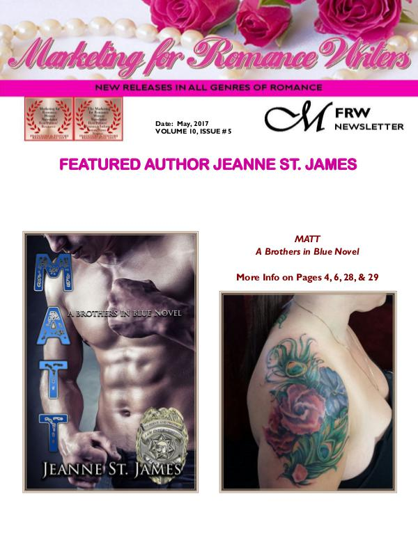 Marketing for Romance Writers Newsletter May, 2017 Volume # 10, Issue #5