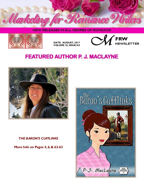 Marketing for Romance Writers Newsletter August, 2017 Volume # 10, Issue # 8