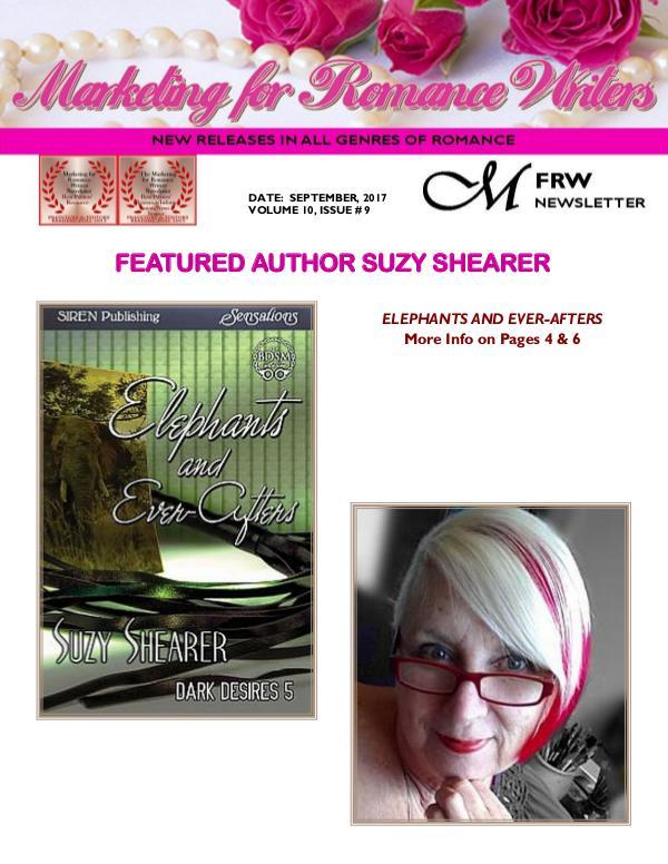 Marketing for Romance Writers Newsletter September, 2017 Volume # 10, Issue # 9
