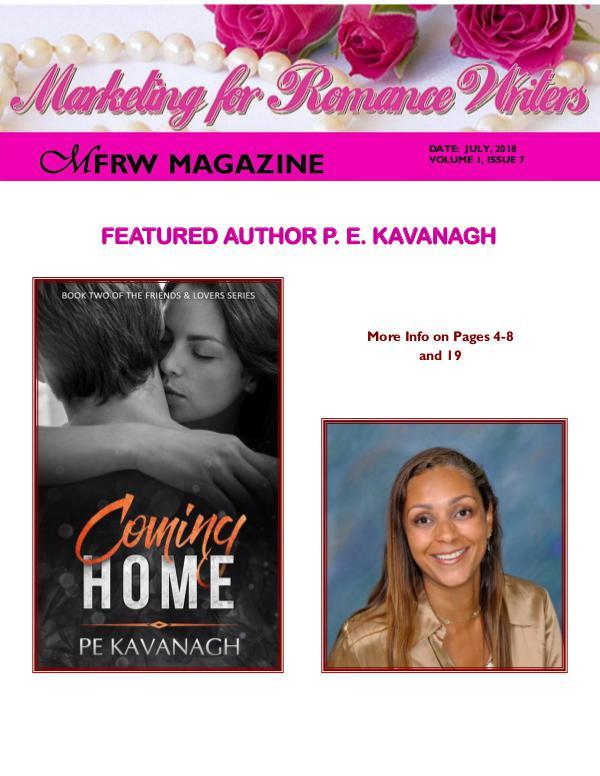 Marketing for Romance Writers Magazine July, 2018 Volume # 1, Issue # 7