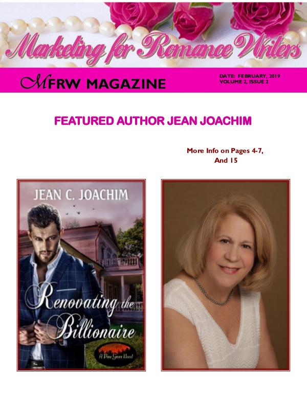 Marketing for Romance Writers Magazine February, 2019 Volume # 2, Issue # 2