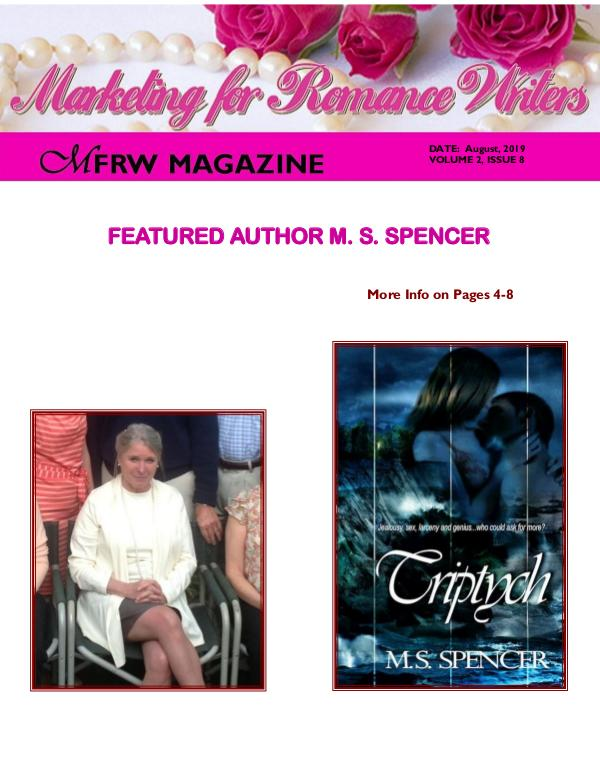 Marketing for Romance Writers Magazine August, 2019 Volume # 2, Issue # 8