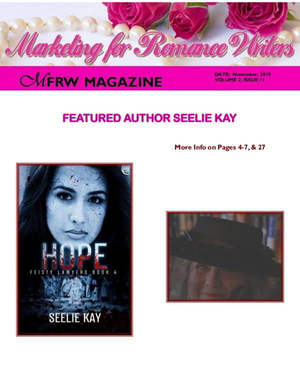 Marketing for Romance Writers Magazine November, 2019 Volume # 2, Issue # 11