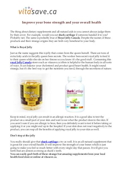 Vitasave.ca - Online health and supplement store Improve your bone strength and your overall health