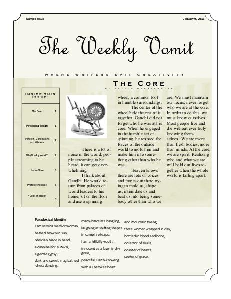 The Weekly Vomit Sample Volume