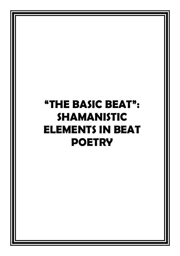 Beat Generation essay 1.8