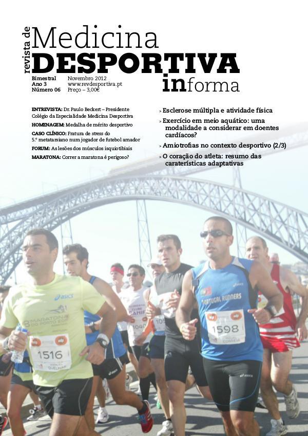 Revista de Medicina Desportiva Informa Novembro 2012