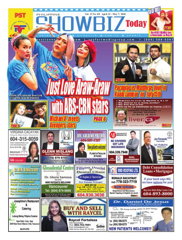 Philippine Showbiz Today Vol 13 No 8