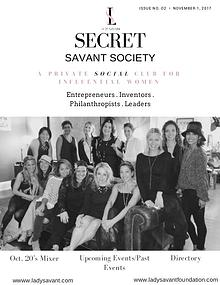 Secret Savant Society:  November Issue