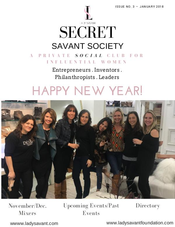 Secret Savant Society: January 2018 Issue Issue 3