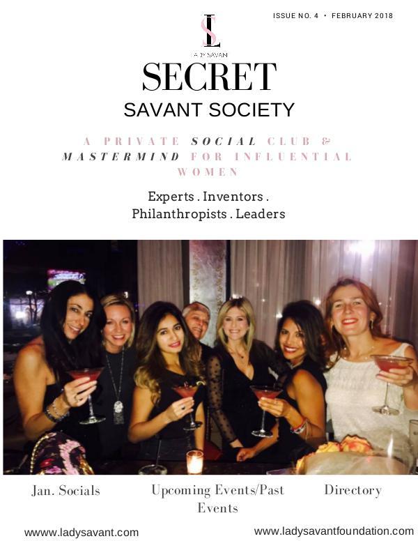 Secret Savant Society -January FEB/MARCH ISSUE