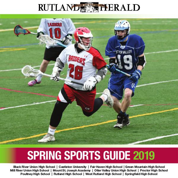 Rutland Herald Sports Guide Spring 2019