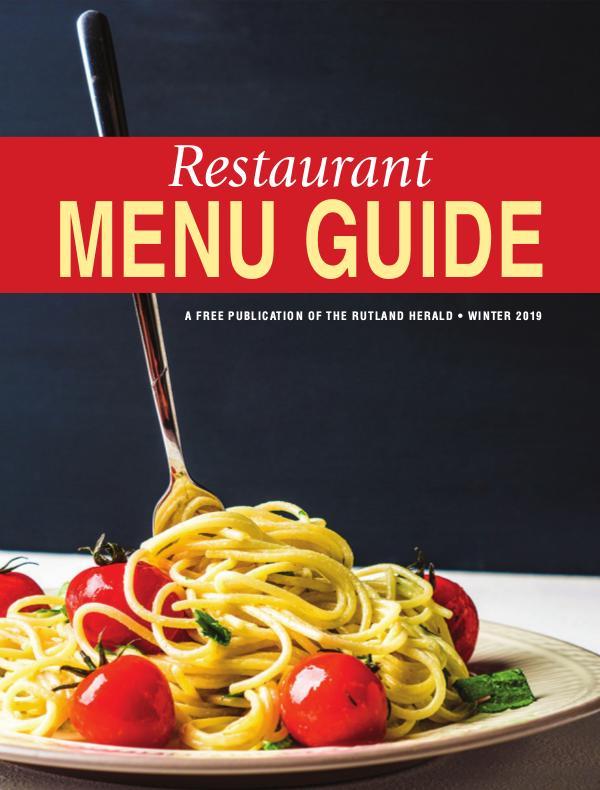 Restaurant Menu Guide Winter 2019