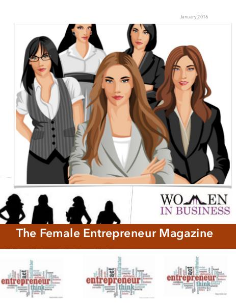 The Female Entrepreneur Magazine January 2016 January 2016